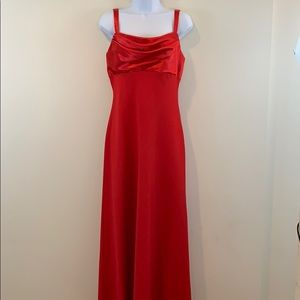 Let's Fashion Floor Length Red Gown  - NEW Size L